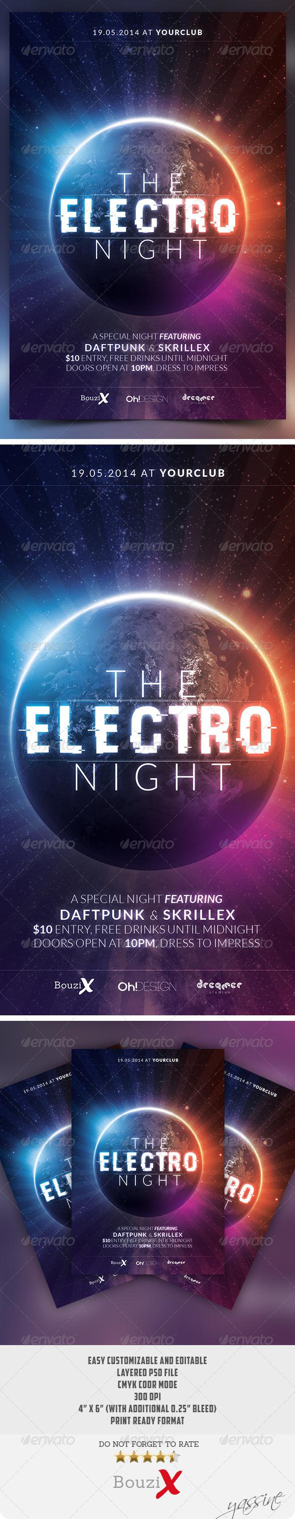 GraphicRiver The Electro Night 7959892