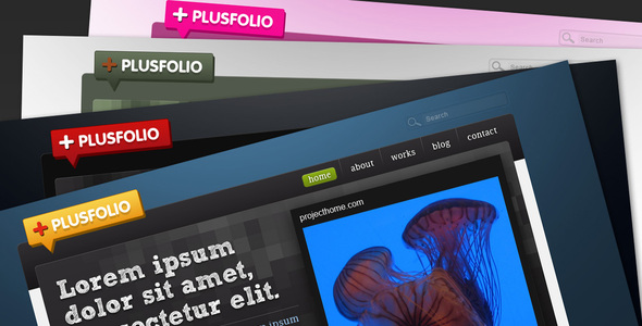 plusfolio - portfoli+blog theme - 4 colors - Creative PSD Templates