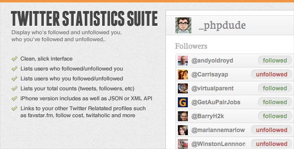 CodeCanyon Twitter Statistics Suite 156909
