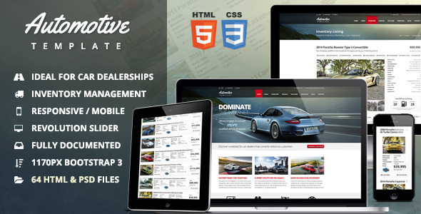 Automotive Car Dealership Amp Business Html Template By