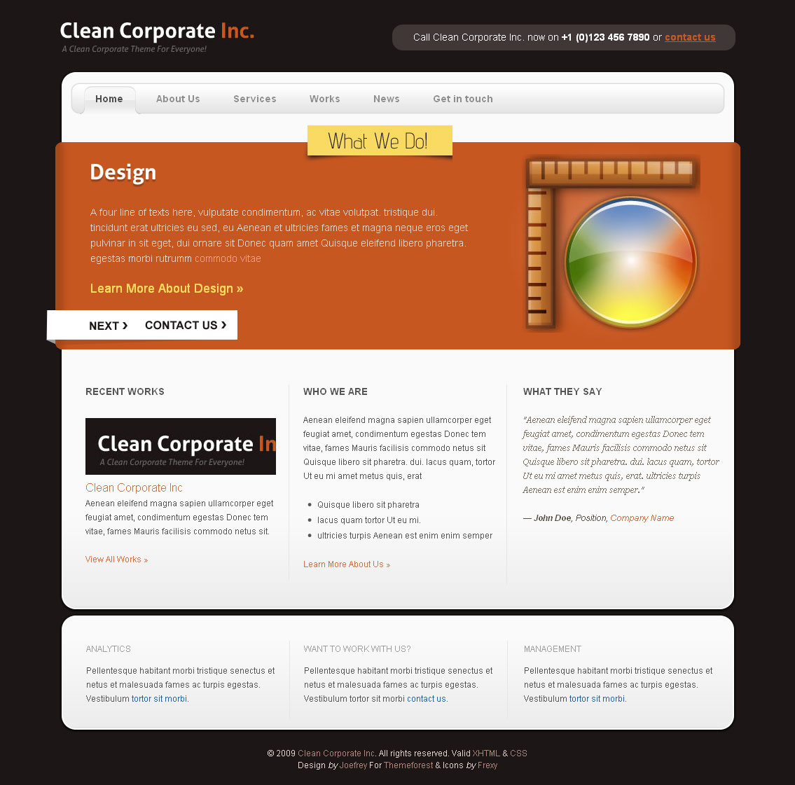 Clean Corporate ( 3 Color Variations ) -