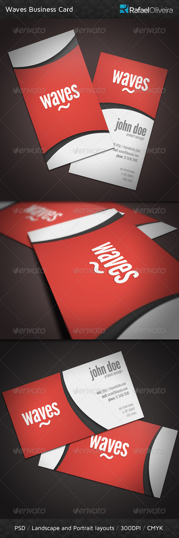 Waves Business Cards - Creative Business Cards
