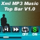  Xml MP3 Music Top Bar V1 - ActiveDen Item for Sale