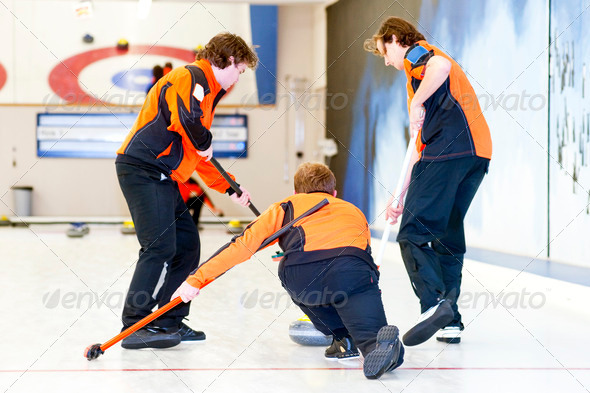 Curling team - Stock Photo - Images
