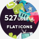 527 Useful Flat Icons-Graphicriver中文最全的素材分享平台