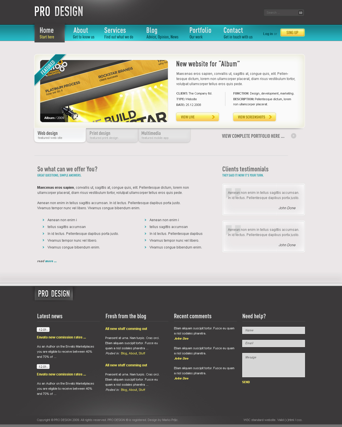 Pro Design - Business Portfolio Blog Template
