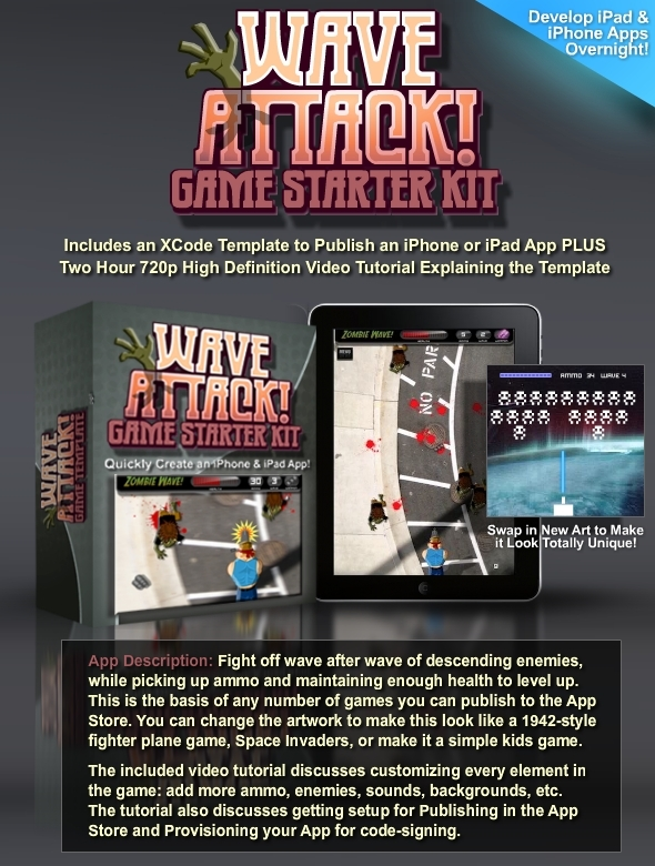 TutsPlus Wave Attack Game Starter Kit and Video Tutorial 831251