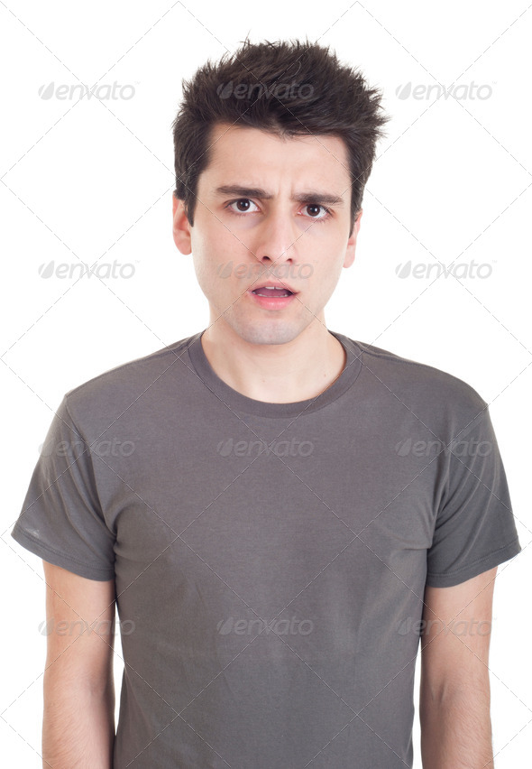 Confused man - Stock Photo - Images