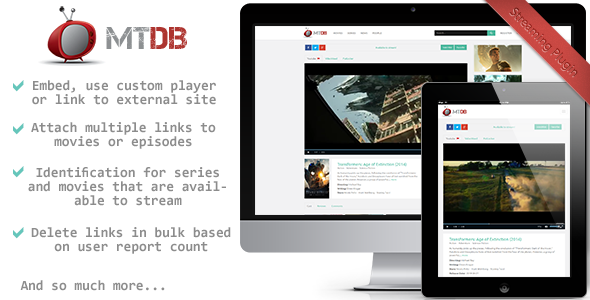 MTDb - Streaming Plugin - CodeCanyon Item for Sale