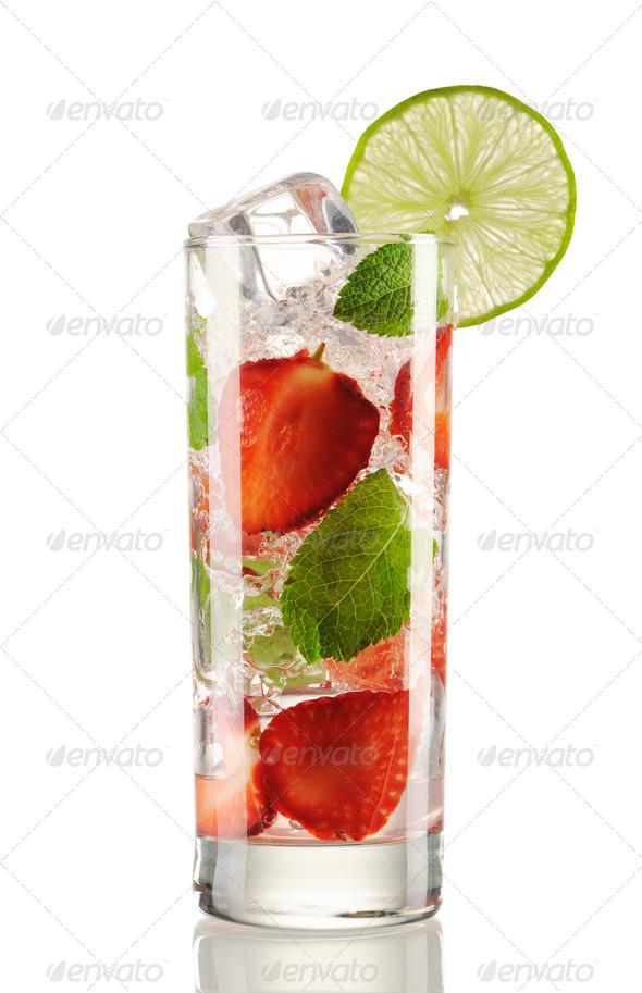 PhotoDune Strawberry mojito cocktail 837268