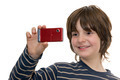 Kid Taking a Photo with a Cellular Phone - PhotoDune Item for Sale