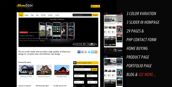 Home Star - Real Estate & Blog Business Template -