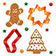 Christmas cookies and cookie cutters - GraphicRiver Item for Sale