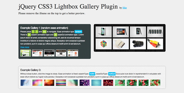 CodeCanyon jQuery CSS3 Lightbox Gallery Plugin 841317