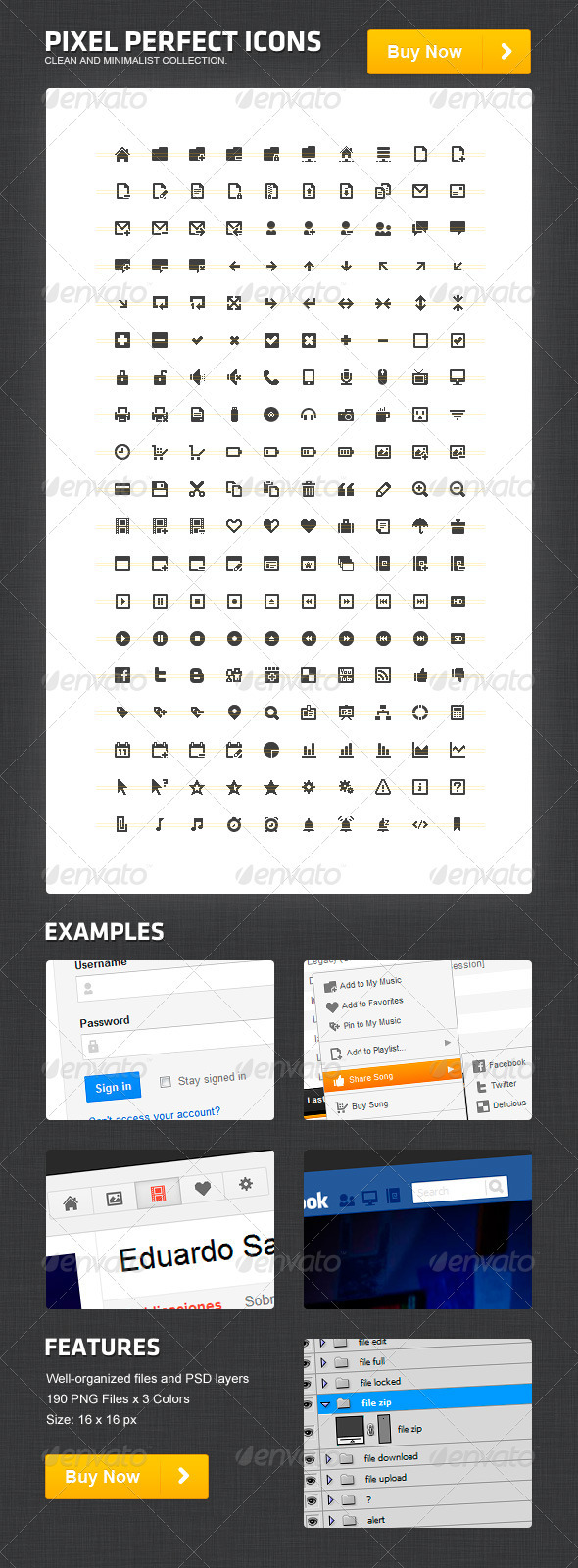 GraphicRiver Pixel Perfect Icons 820936