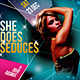 Seduction Web - Music Dance Night Party Flyer - GraphicRiver Item for Sale