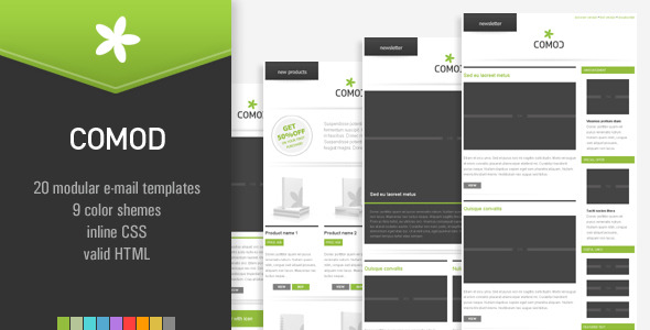 COMOD - 20 E-mail Templates