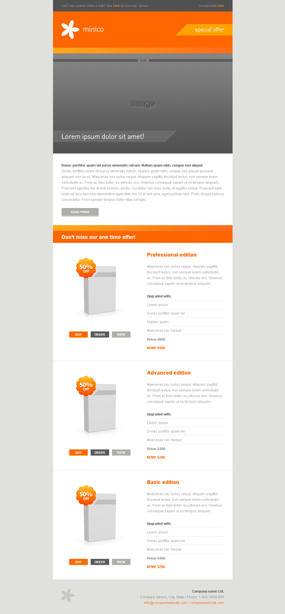 MINICO – 12 e-mail templates