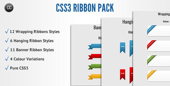 CodeCanyon CSS3 Ribbon Pack 851059