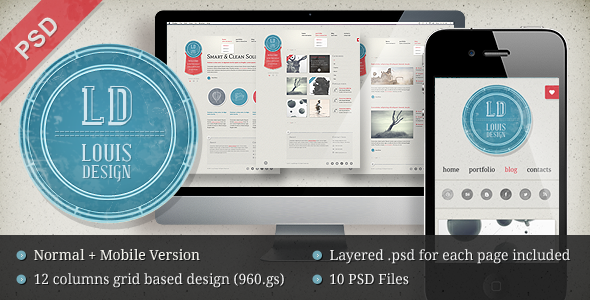 LD Studio PSD Template - Creative PSD Templates