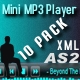 Xml Mini MP3 Music Player 10 pack  - ActiveDen Item for Sale