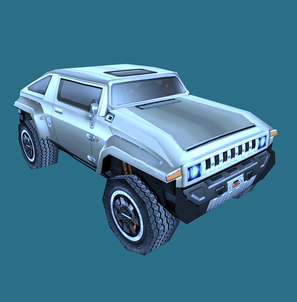 3DOcean Low Poly Hummer HX Model 3D Models -  Vehicles  Land  Cars 855956