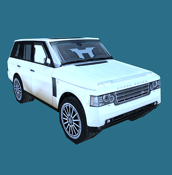 3DOcean Low Poly Range Rover Model 3D Models -  Vehicles  Land  Cars 856297