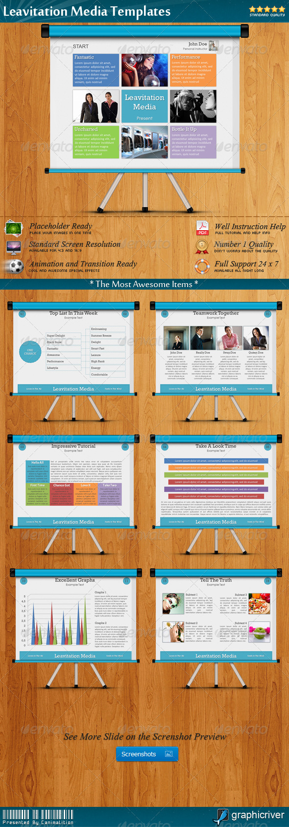 Leavitation Media Presentation Templates