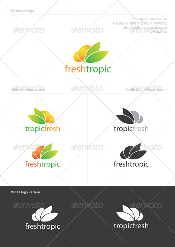 FreshTropic - Food Logo Templates