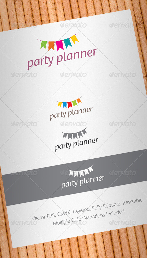 GraphicRiver Party Planner Logo Template 859470