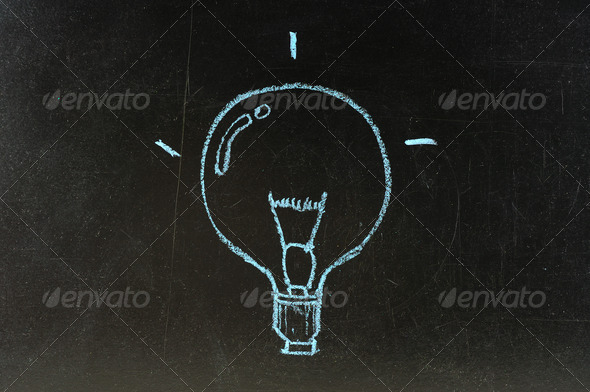 bulb symbol - Stock Photo - Images