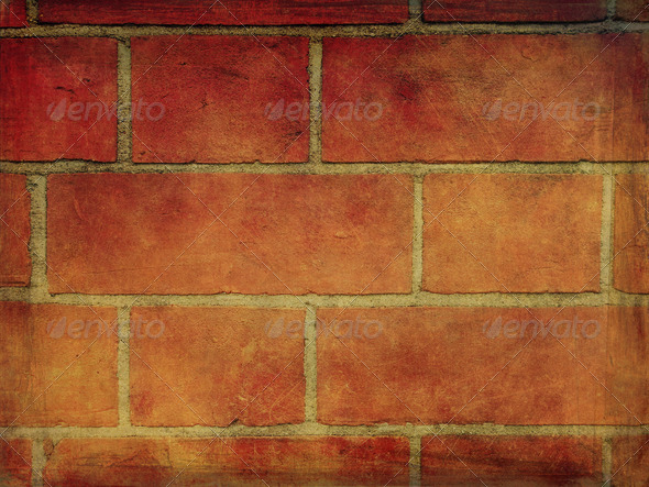 Grunge bricks background 1 - Stock Photo - Images