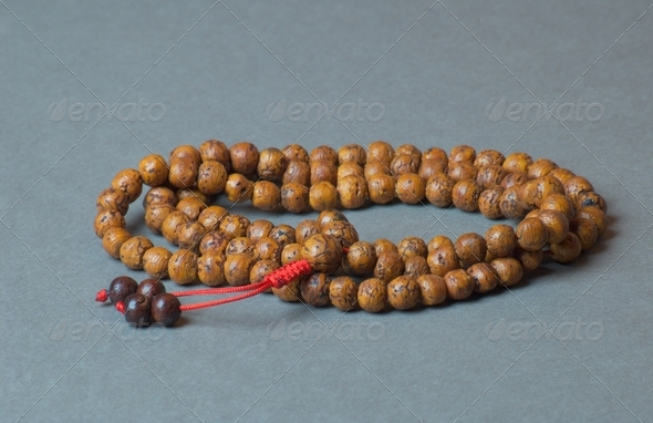 Santal mala - prayer beads - Stock Photo - Images