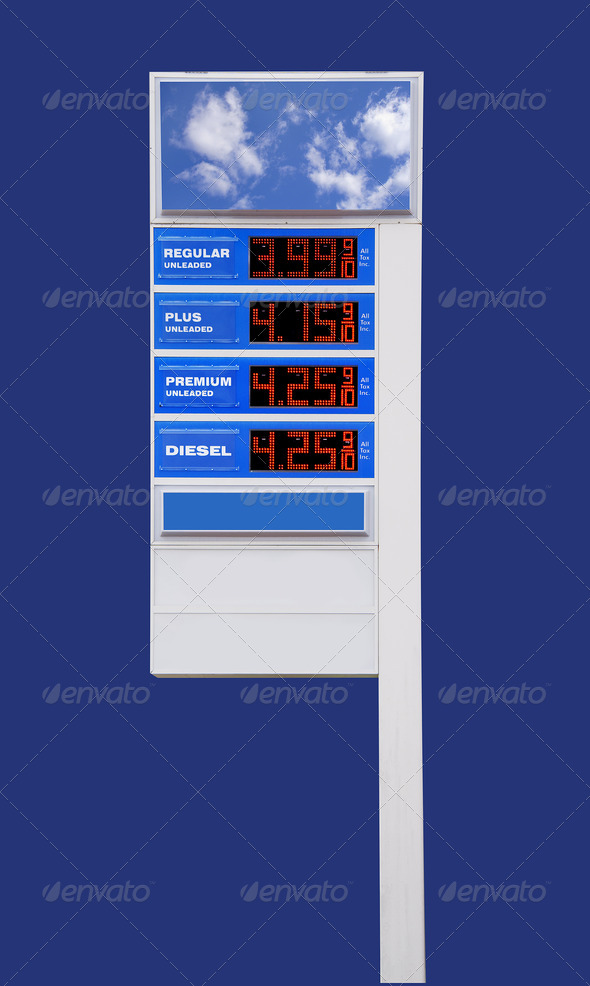 Gasoline prices - Stock Photo - Images