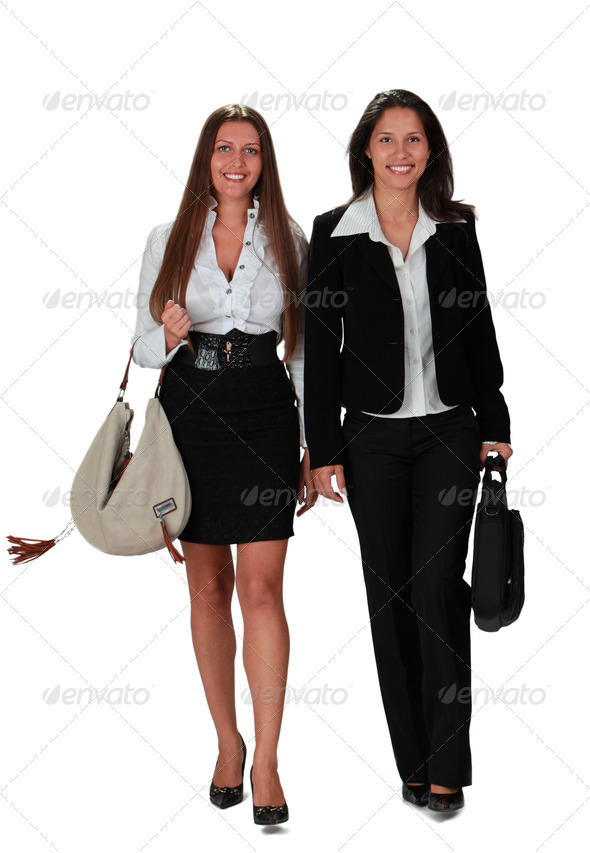 Two Women Walking - Stock Photo - Images