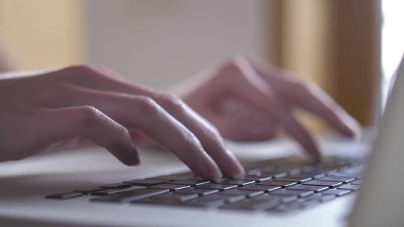 VideoHive Woman Typing on Laptop 18997186