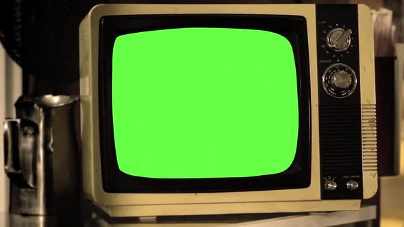 VideoHive Vintage Tv Green Screen 18710719