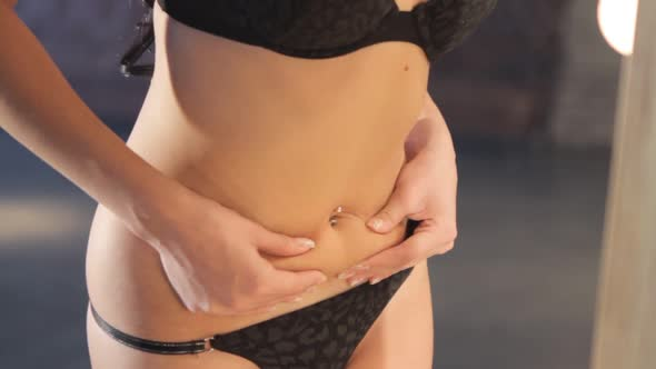 Download Woman Touching Stomach nulled download