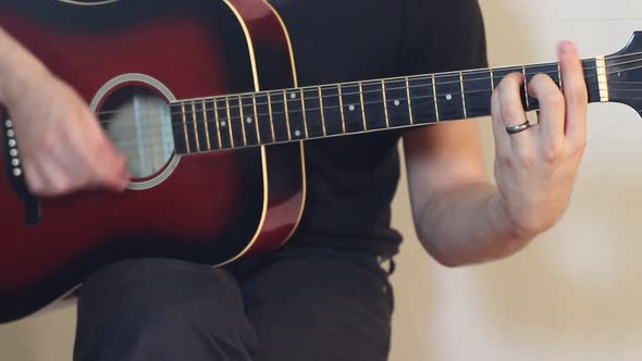 Download Musician Plays A Guitar nulled download