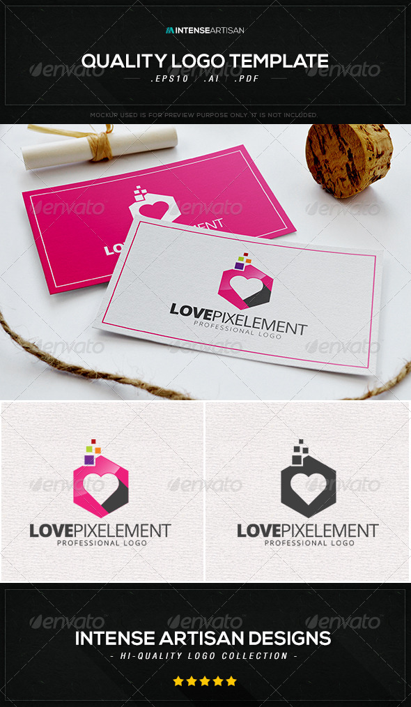 Love Pixelement Logo Template