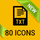80 File Types Icons - GraphicRiver Item for Sale