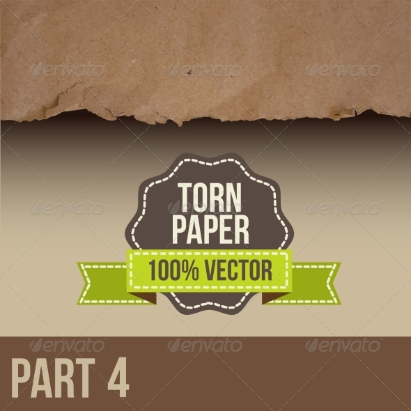 GraphicRiver Brown Paper with Torn Edge 8470033