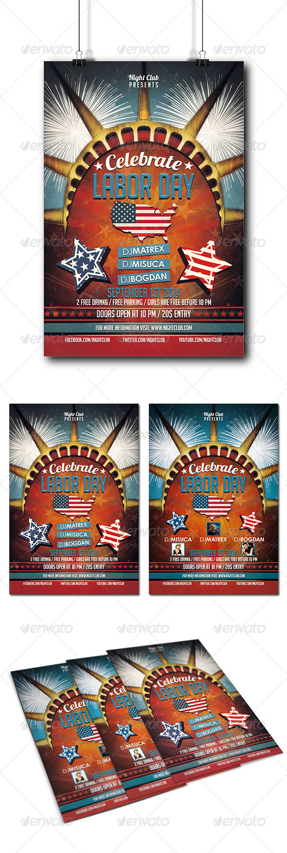 GraphicRiver Labor Day Party Flyer 8467722