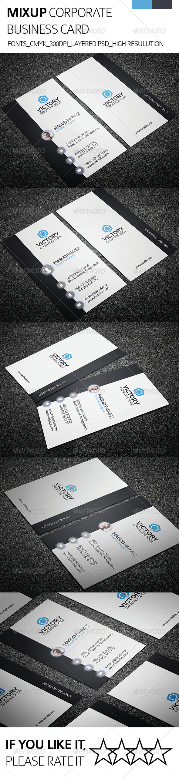 GraphicRiver Mixup & Corporate Business Card 8470068