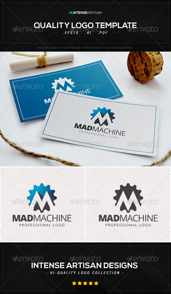 GraphicRiver Mad Machine Logo Template 8470067