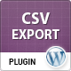 WordPress to CSV Export Plugin - CodeCanyon Item for Sale