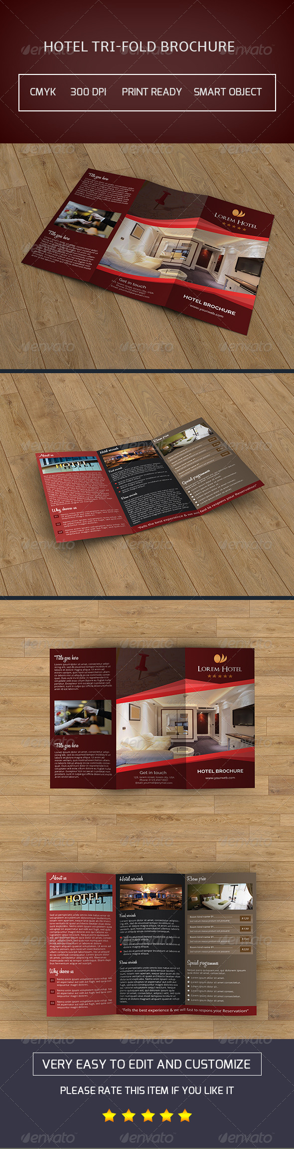 Hotel Business Trifold Brochure-V41