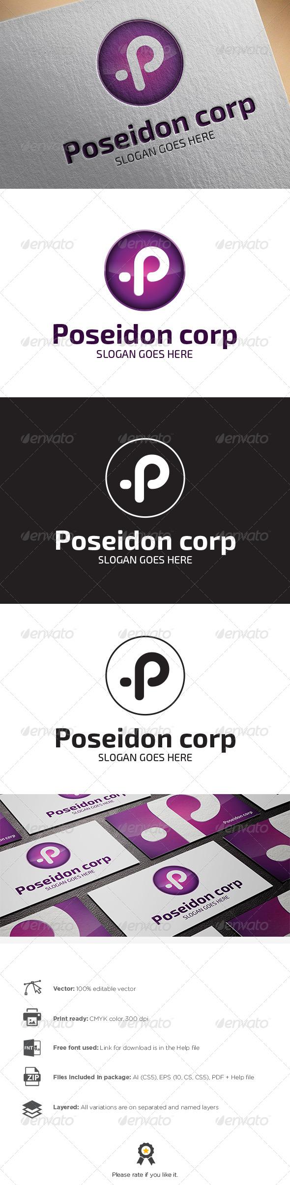 GraphicRiver Letter P Logo 8470124