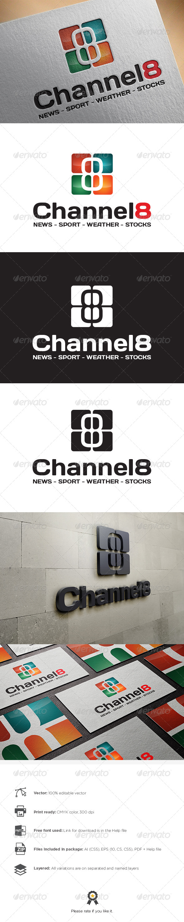 GraphicRiver Channel 8 Logo 8470125