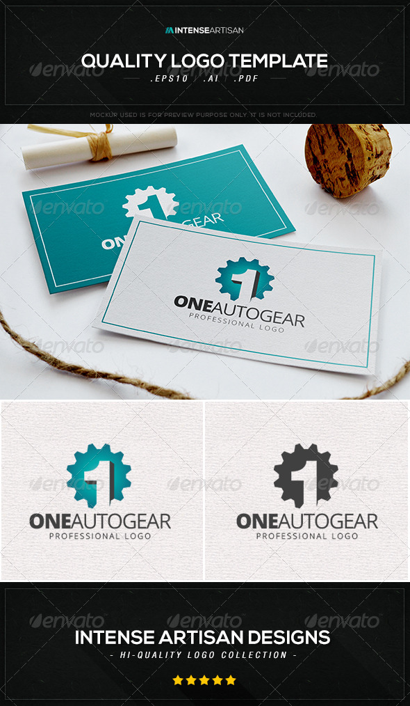 GraphicRiver One Autogear Logo Template 8470280